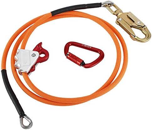 Tree Climbing Kit 1//2 X 8 Wire Core Flipline with Triple Lock Carabiner and Steel Swivel Snap YaeMarine Wire Core Flip Line Kit
