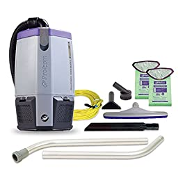 ProTeam Super Coach Pro 6, 6 qt. Backpack Vacuum w/ Two Piece Wand Kit