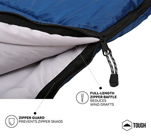 All Season Xl Hætteklædte sovepose med Compression Sack-4120