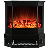 1500 Watts Free Standing Black Electric Stove, 400 Sq. Ft.