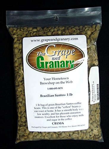 Brazilian Santos unroasted Coffee Beans (1LB)