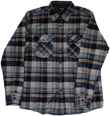 BRIXTON ECP Design Flynn L/S – Camisa de Franela Azul Marino/Caqui Prendas de Vestir, Multicolor: Amazon.es: Deportes y aire libre
