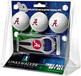 NCAA Alabama Crimson Tide - 3 Ball Gift Pack with Hat Trick Divot Tool