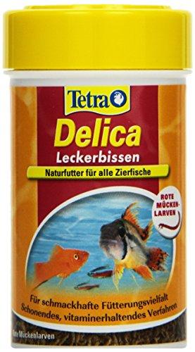 TetraDelica Bloodworms (Naturfutter für Zierfische, enthält zu 100% gefriergetrocknete rote Mückenlarven), 100 ml Dose