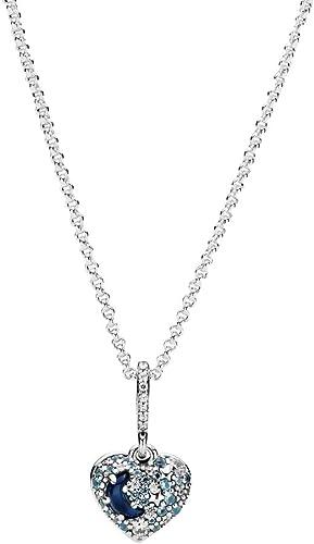 Pandora Collier en argent sterling avec pendentif en forme de cœur ...