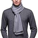 penagy mens winter warm long cashmere thick scarf solid color soft australian wool scarves shawl