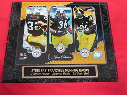 Franco Harris Jerome Bettis Le'veon Bell Pittsburgh Steelers Collector Plaque w/8x10 LEGACY COLLECTION ()