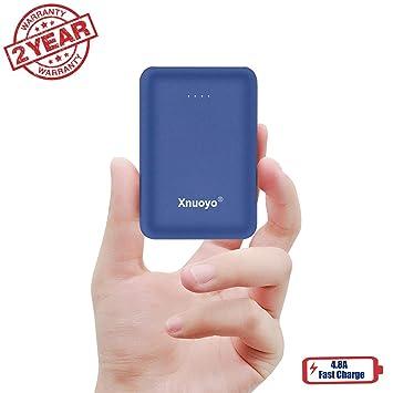 Xnuoyo Cargador Portátil, Mini Power Banks Ultra Compacto de 10000 mAh con Entrada Doble y Paquete de Baterías Externas de Salida Compatible con la ...