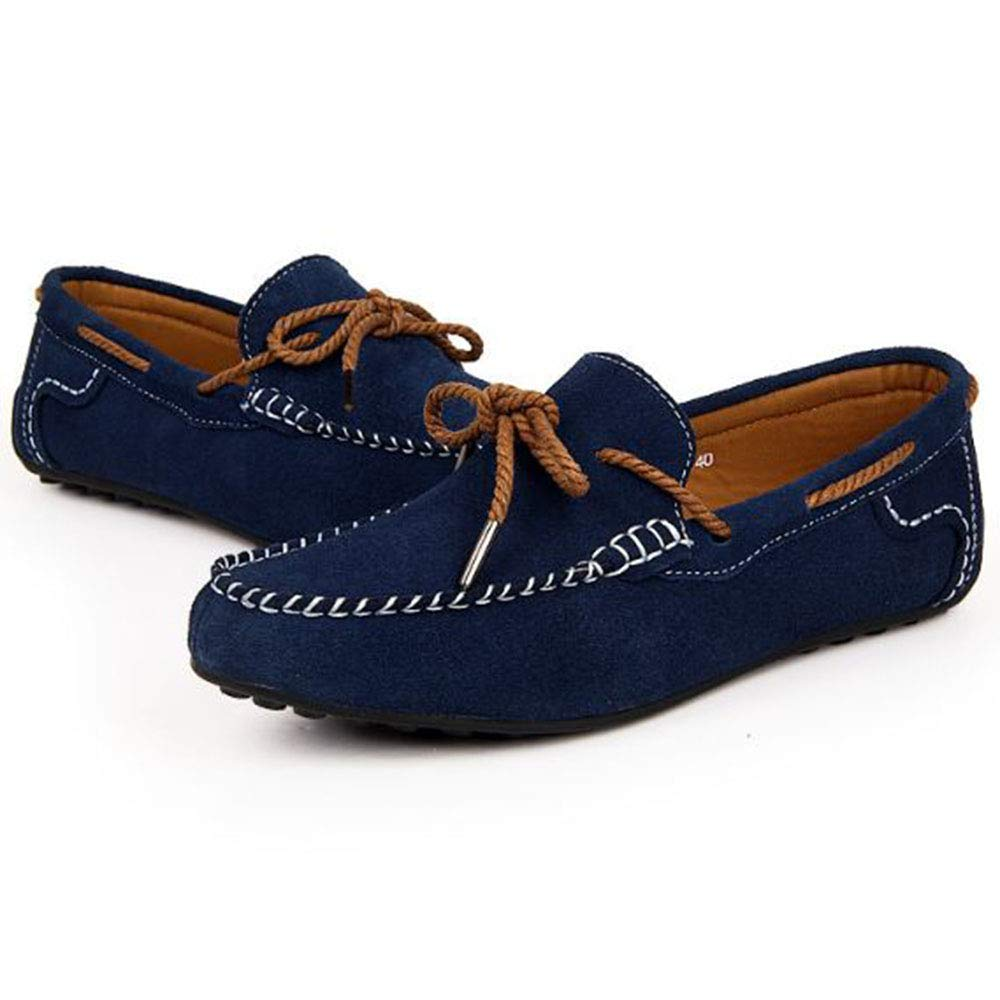 AFCITY Frühlings Männer Casual Schuhe Niedrig Hilfe Slip (Farbe on Schuhe Klassischer Stiefelschuh (Farbe Slip : Himmelblau, Größe : 40 2/3 EU) Dunkelblau 7302e6