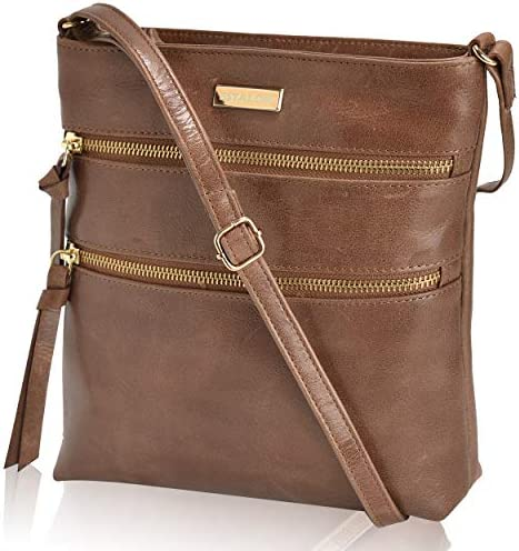 Leather Crossbody Crossover Shoulder Handbags