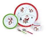 Rudolph 5-Piece Melamine Dish Set – Includes