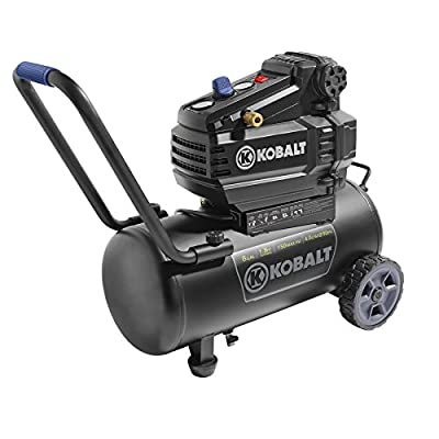Kobalt 8-Gal Tank Portable Air Compressor 150 PSI Oil Free Electric , 1.8 HP