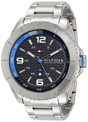 Tommy Hilfiger Men's 1791002 Silver-Tone Stainless Steel -