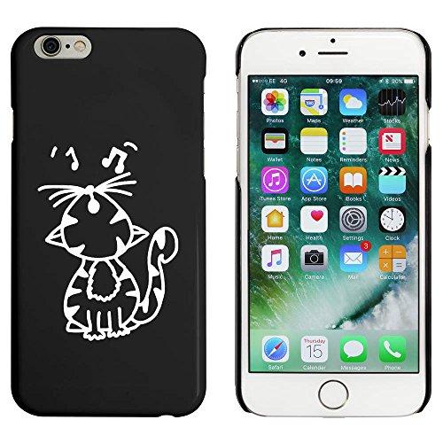 Schwarz 'Singende Katze' Hülle für iPhone 6 u. 6s (MC00034585)