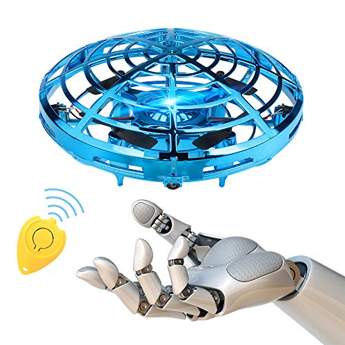 PF Mini RC Drones for Kids,UFO Flying Ball Toys for Kids , Hand-Controlled Drones Light Up Helicopter with LED Indoor Outdoor Quadcopter Toys for Boy, Teens and Adults (Best Air Hogs Helicopter 2019)