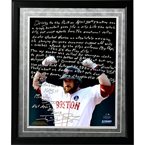 mlb-boston-red-sox-jonny-gomes-facsimile-boston-strong-story-metallic-framed-16x20-inch-photo