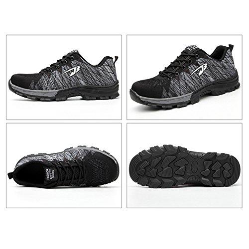 Zapatos Seguridad Zapatos de Calzado Calzado Pareja de Calzado Hombres Mujer Transpirables Zapatos Unisex Zapatos Trabajo de Deportivo Gris xC7qn6Yw