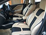 Autofact For Maruti Celerio - Car Seat Covers - Pu Leatherite / Rexin - Beige And Black