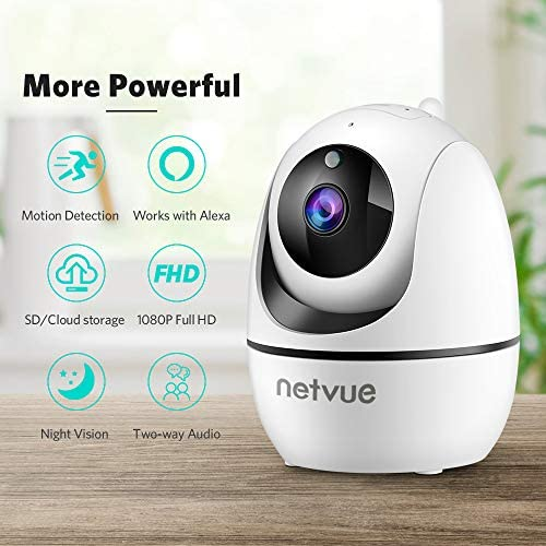 Dog Camera, 1080P FHD 2.4GHz WiFi Pet Camera , Indoor Security Camera for Pet/Baby/Nanny, AI Human Detection, Night Vision, Cloud Storage/TF Card, 2-Way Audio