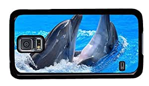 Hipster Samsung Galaxy S5 Cases luxury dolphins fun PC Black for Samsung S5