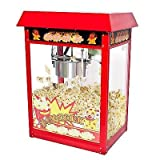 New 8oz Deluxe Popcorn Popper Maker Machine Red Table Top Tabletop Theater Style