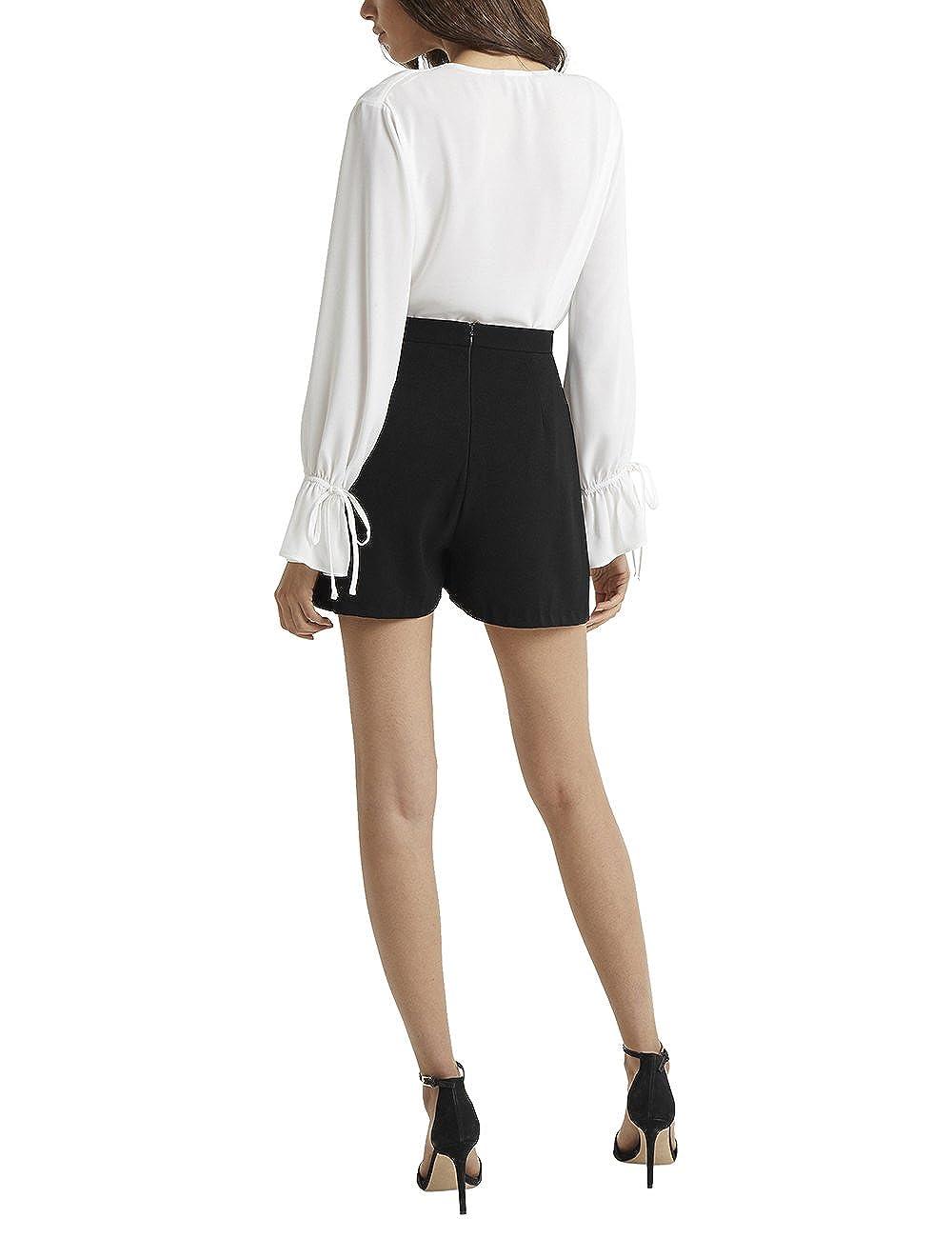 Lipsy Femme Short Boutonné Sur Le Devant Noir EU 40 (UK 12)  Amazon.fr  Vêtements  et accessoires 5c6a9ac03a9