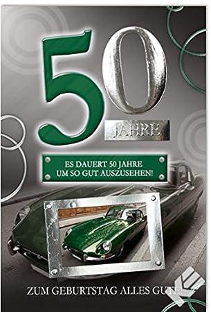 Karte Zum 50 Geburtstag Oldtimer B6 Umschlag Amazon De