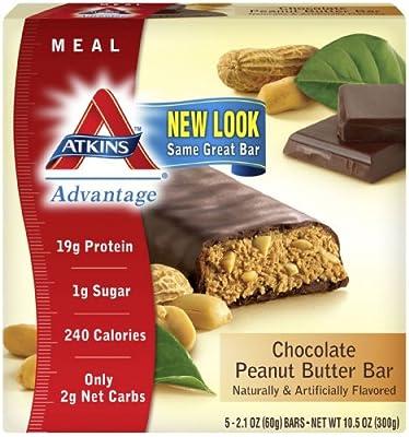 Atkins Advantage Bars, Chocolate Peanut Butter