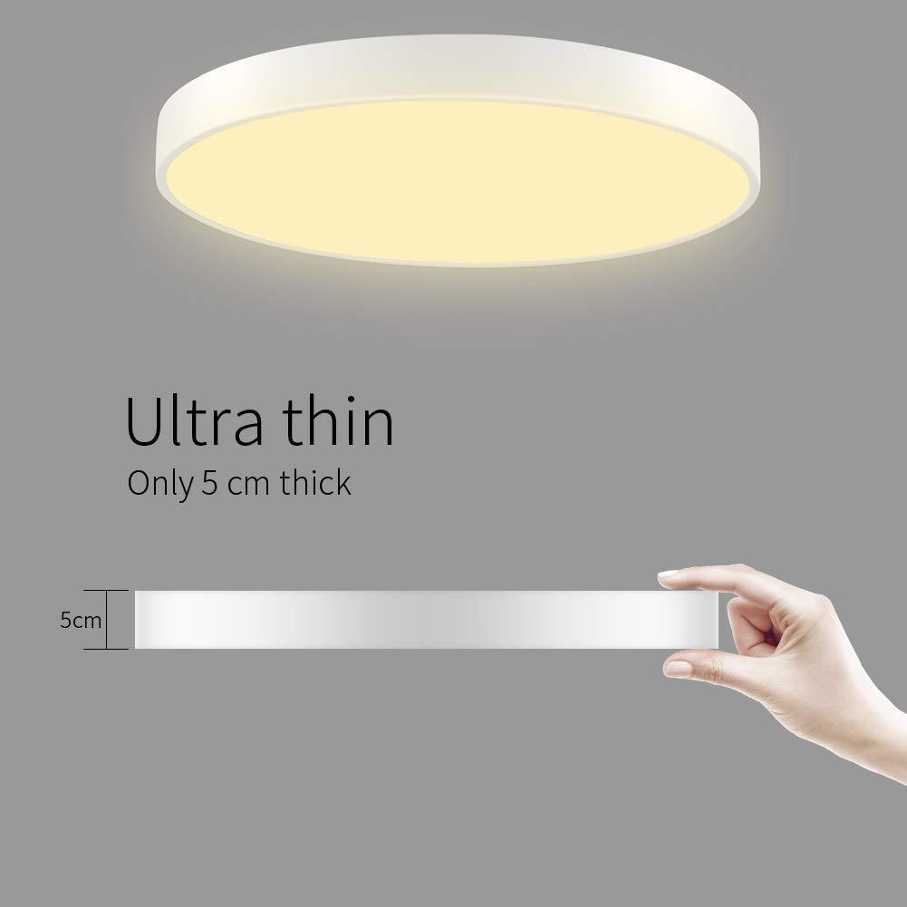 Lámpara de Techo Sararoom 36W Plafon de Techo Redonda Blanco cálido 3000k Tonos Led para baño Dormitorio Cocina Sala de estar Comedor Balcón Pasillo