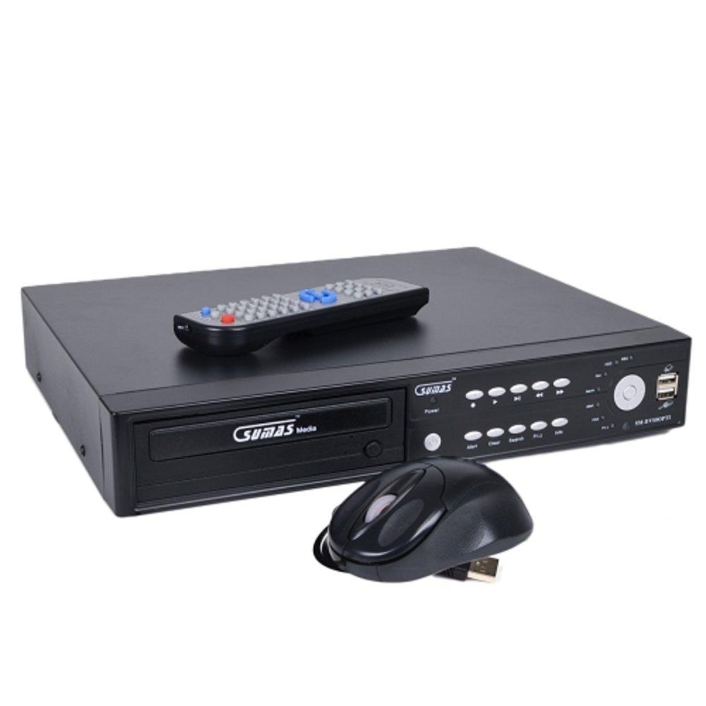 Sumas 8-Channel Standalone Network DVR Surveillance Kit w/Smartphone Remote Access, 1TB Hard Drive, 6 IR Cameras & DVD±RW Drive