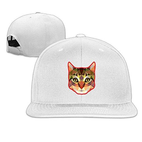 Custom Unisex-Adult Cute Creative Cat Flat Bill Hiphop Hats Caps - Burberry Baseball Hat