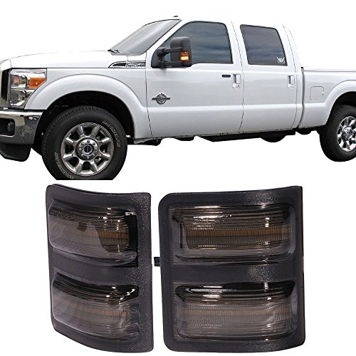 Towing Mirror Fits 2008-2016 Ford F250 F350 F450 | Super Duty Tow Mirrors Side LED Lights by IKON MOTORSPORTS | 2009 2010 2011 2012 2013 2014 2015