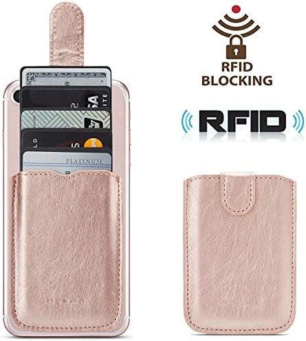 Blocking Leather Universally Smartphones RoseGold
