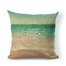 StarflowsS Pillow Cover Mandala Yoga Cotton Linen Decorative Throw Pillow Case Cushion Cover 26x26 Inches