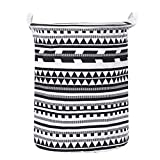 "dark kitchen cabinets Laundry Basket Bins,Amiley Waterproof Laundry Baskets Foldable Stylish Decorative Linen Fabric Laundry Household Organizer Basket | 19.7"" x 15.7"" (B)"