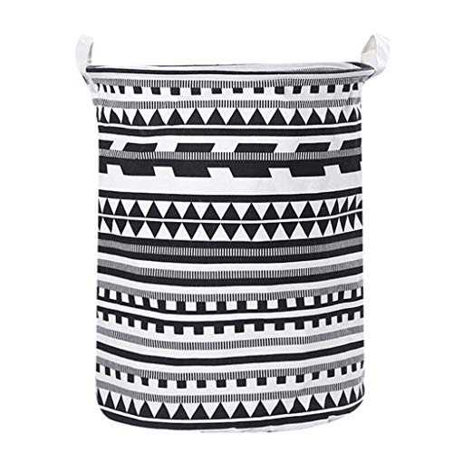 "Laundry Basket Bins,Amiley Waterproof Laundry Baskets Foldable Stylish Decorative Linen Fabric Laundry Household Organizer Basket | 19.7"" x 15.7"" (B)"