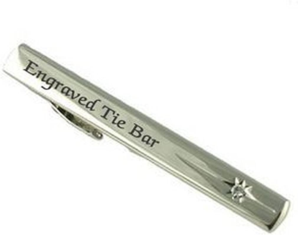 Select Gifts Engraved Personalised Tie Clip Bar in Message Box
