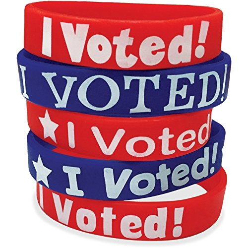I Voted Wristbands, 10/PK