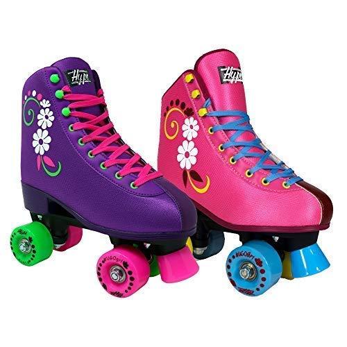 Lenexa uGOgrl Kids Roller Skates for Kids Children - Girls and Boys - Kids Rollerskates - Childrens Quad Derby Roller Skate for Youths Boy/Girl - Kids Skates (Pink, 1)