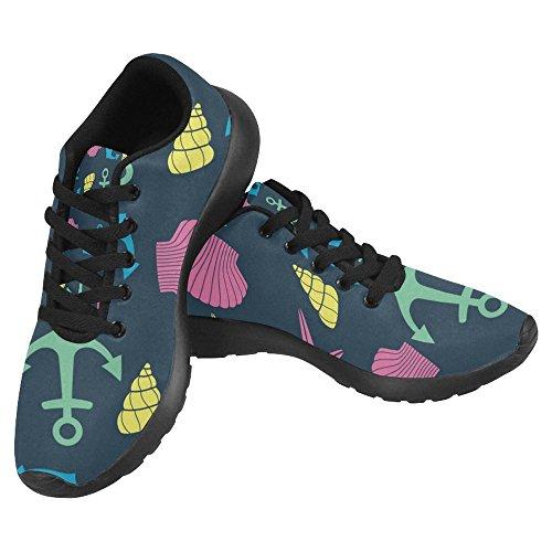 Interessante Donna Da Jogging Corsa Sneaker Leggero Andare Facile A Piedi Casual Comfort Sport Scarpe Da Corsa Carino Vita Marina Stella Marina, Conchiglia, Ancora Multi 1