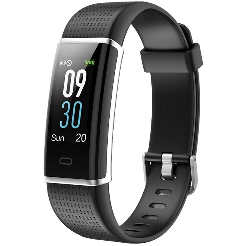 icefox Unisex Adult Armband, Smart Fitness Trackers Uhr, Wasserdicht IP67 Bluetooth Aktivitä tstracker mit Pulsmesser,Herzfrequenzmonitor, 1 Schlafmonitor Schrittzä hler