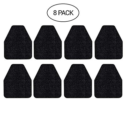 Urinal Mats (Black) - Case of 8 - Antimicrobial & Antibacterial Agents Kills Germs on Contact - Black Floor Toilet mats for Industrial, Commercial & Restaurant Restrooms - - Rubber Non-Slip Backing -