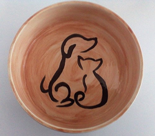 Dog and cat food or watering bowl in a silhouette by Ceramics Created 4 You
