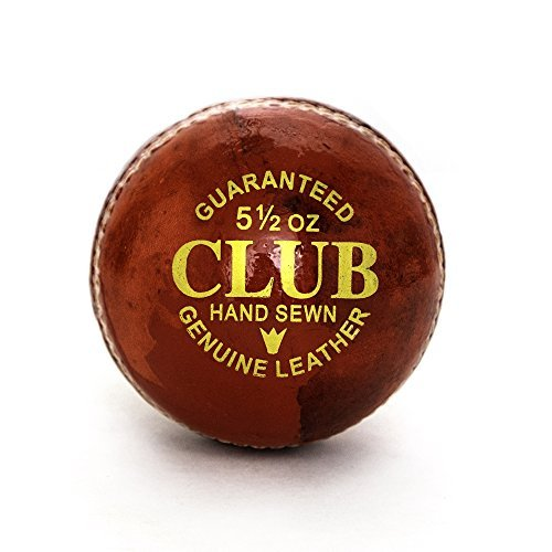 Pro Impact Club Play Leather Cricket Ball (1 Ball) by Pro Impact