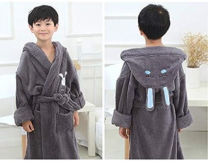 FERZA Home Algodón para niños Batas de baño Toalla Gruesa Material Pijamas para bebés, niños