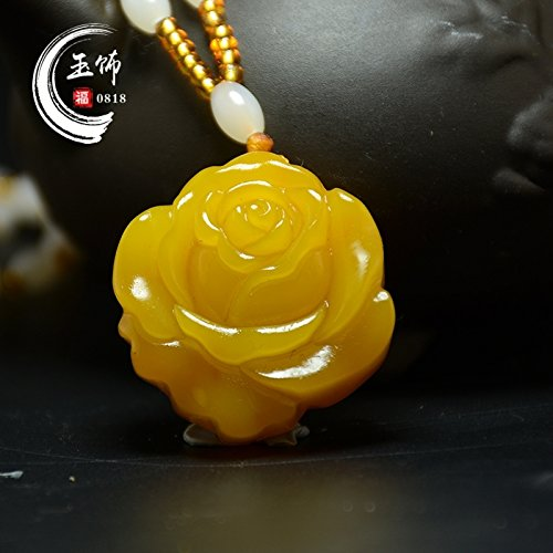 natural topaz necklace pendant peony flowers rich huanglong jade pendants rose sweater chain bracelet bangle women girls star