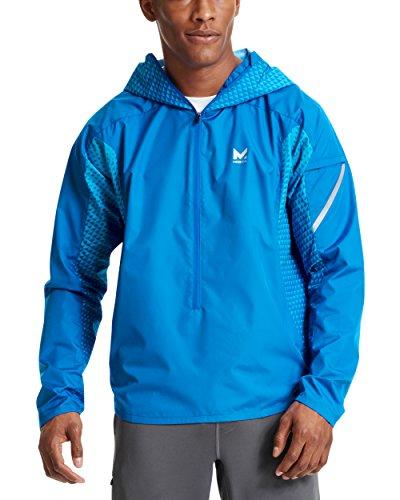 - Mission Men's VaporActive Barometer Running Jacket, Lapis Blue Ombre, X-Large