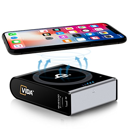 Qi-Wireless-Charger-Qualcomm-QC30-Power-Bank-CVIDA-10000mAh-Wireless-Power-Bank-3-Port-Portable-Charger-External-Battery-Pack-with-USB-C-Input-Output-for-iPhone-88-Plus-iPhone-X-Galaxy-S8
