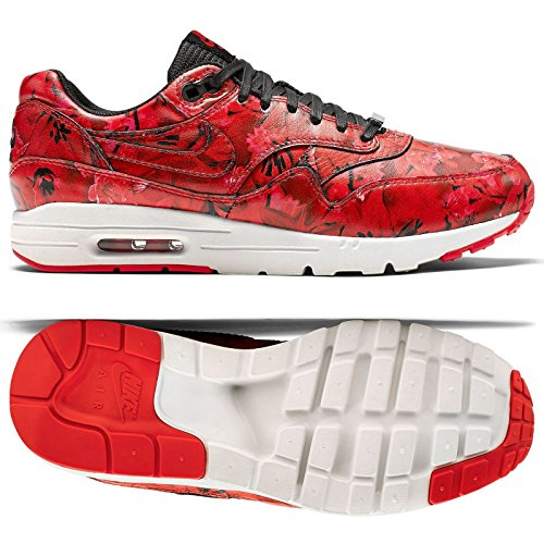 Nike Women's Wmns Air Max 1 Ultra LOTC QS, SHANGHAI FLORAL-CHALLENGE RED/CHLLNG RD-SMMIT WHITE-BLACK, 8.5 US