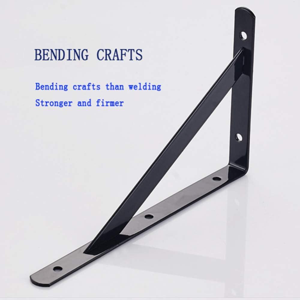 2 piezas de soportes de estante de acero laminado en fr/ío estantes flotantes estante triangular marco de soporte de soporte de estante montado en /ángulo de 90 grados